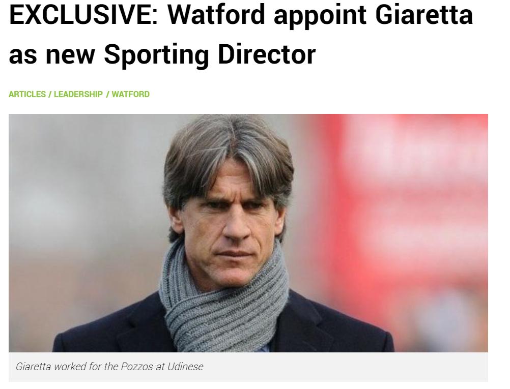 Британски сайт: Уотфорд назначи Джарета за нов спортен директор 1