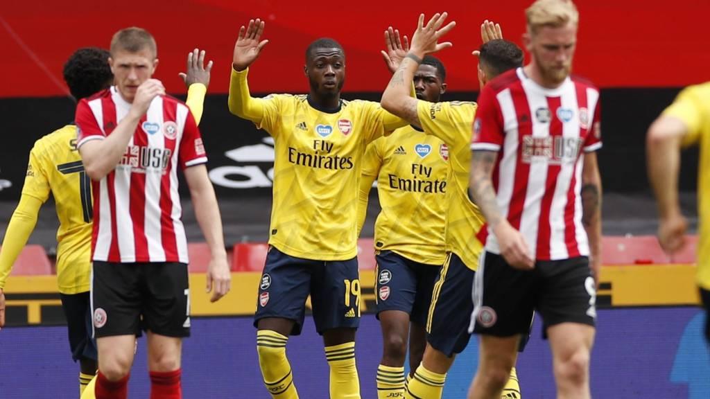 """Арсенал е на 1/2-финалите на """"ФА Къп"""" след труден успех в Шефилд 1"""