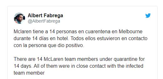 14 служители от McLaren под карантина