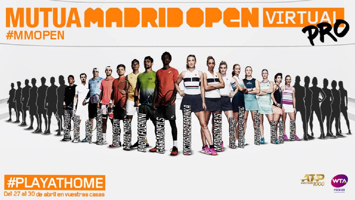 Куп тенис звезди ще играят на онлайн турнира Mutua Madrid Open 1