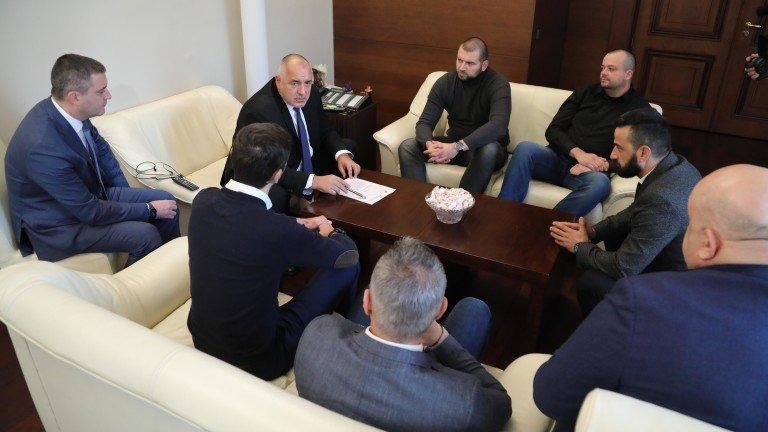 Бойко Борисов се срещна с феновете на Левски  (ВИДЕО)