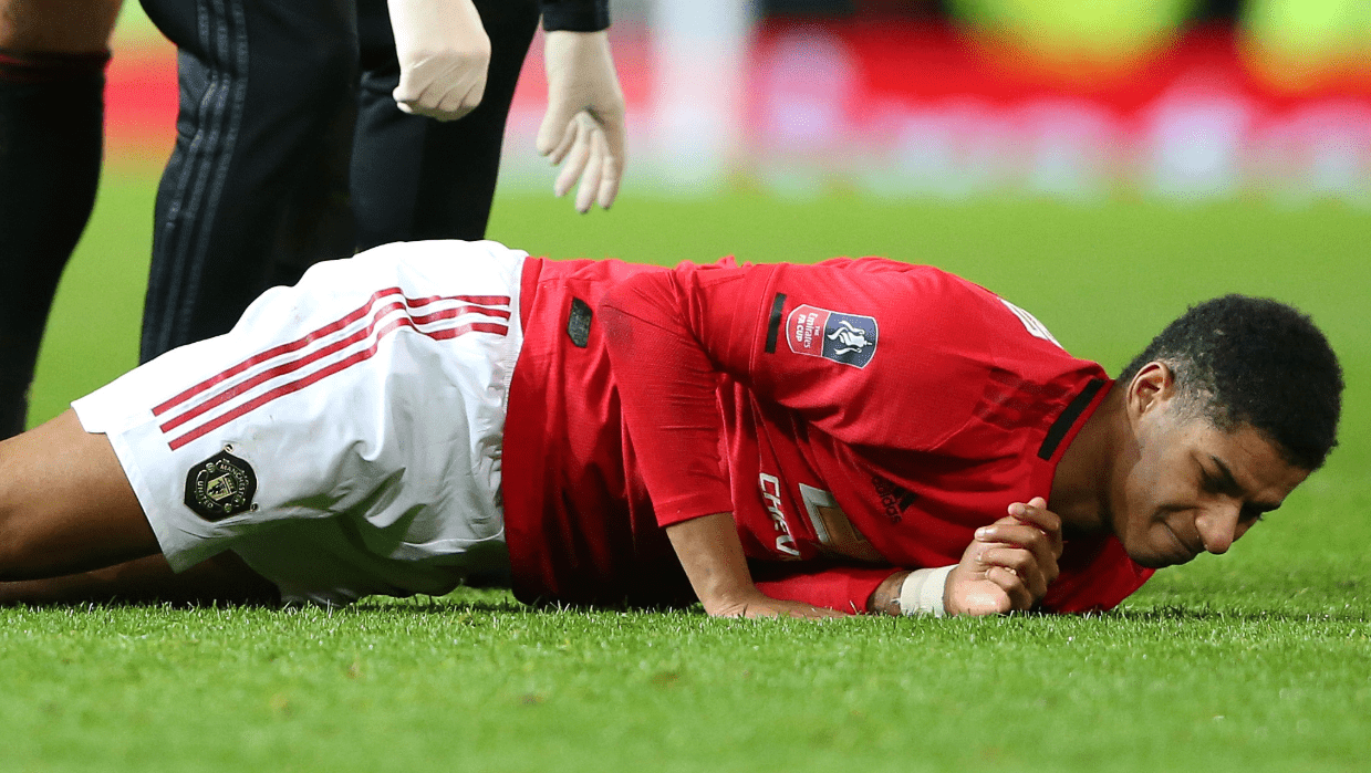Иън Райт вини мениджъра на Манчестър Юнайтед за контузията на Рашфорд