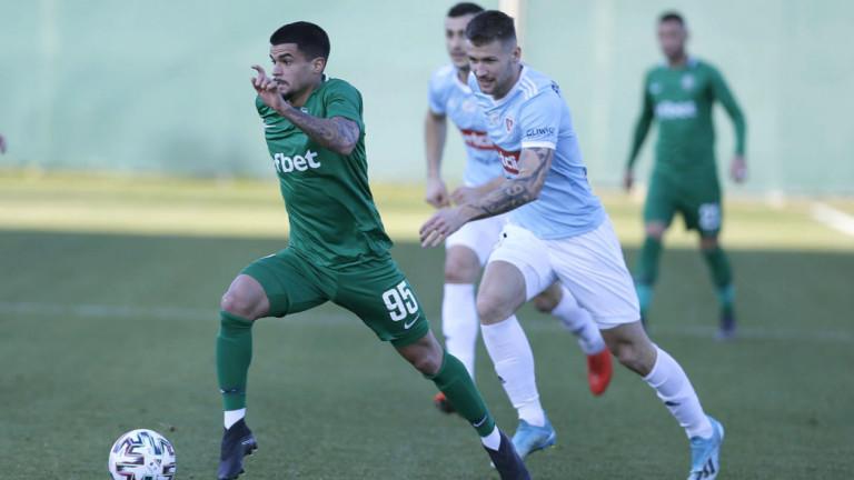 Лудогорец пропиля доста шансове за гол и направи реми срещу Слован