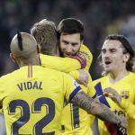 Барселона изстрада победата срещу Бетис, двата тима завършиха двубоя с по 10 души
