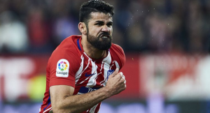 Нападателят на Атлетико – Диего Коща, ще участва в мача срещу Ливърпул