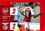 С късен гол на Обамеянг Арсенал повали Бенфика 9