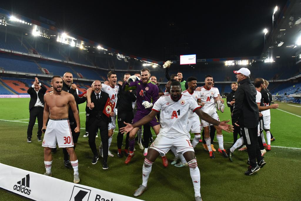 ЦСКА е в групите след наелектризираща Червена приказка в Базел 1