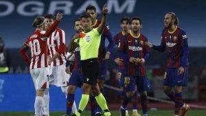 Барселона защити Меси за поведението му в края на мача с Атлетик