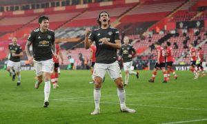 """Фантастичен Кавани донесе обрата на Ман Юнайтед срещу """"светците"""""""