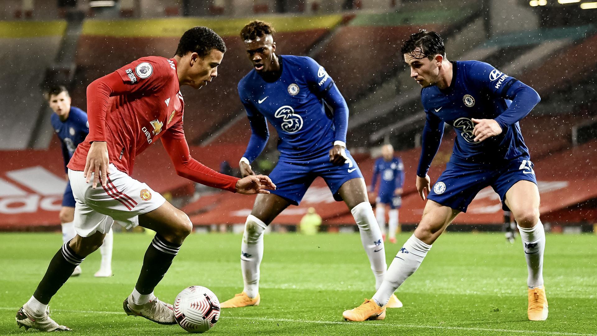 Челси срещу Манчестър Юнайтед (стартови състави) 19