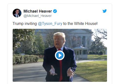Доналд Тръмп ще кани Фюри и Уайлдър в Белия дом