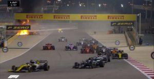 Зловеща катастрофа прекрати Гран при на Бахрейн още в началото