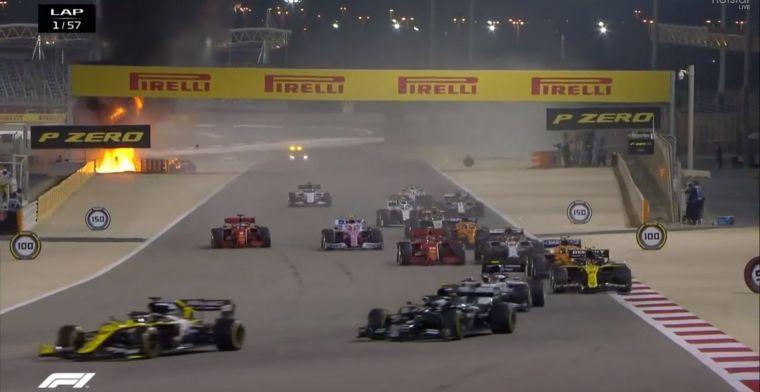 Зловеща катастрофа прекрати Гран при на Бахрейн още в началото 1