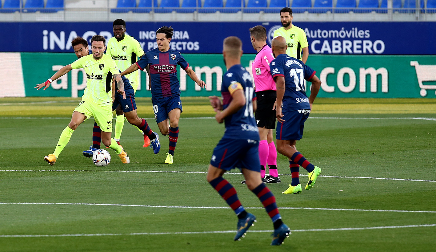 Атлетико Мадрид със Суарес не впечатли срещу Уеска 1