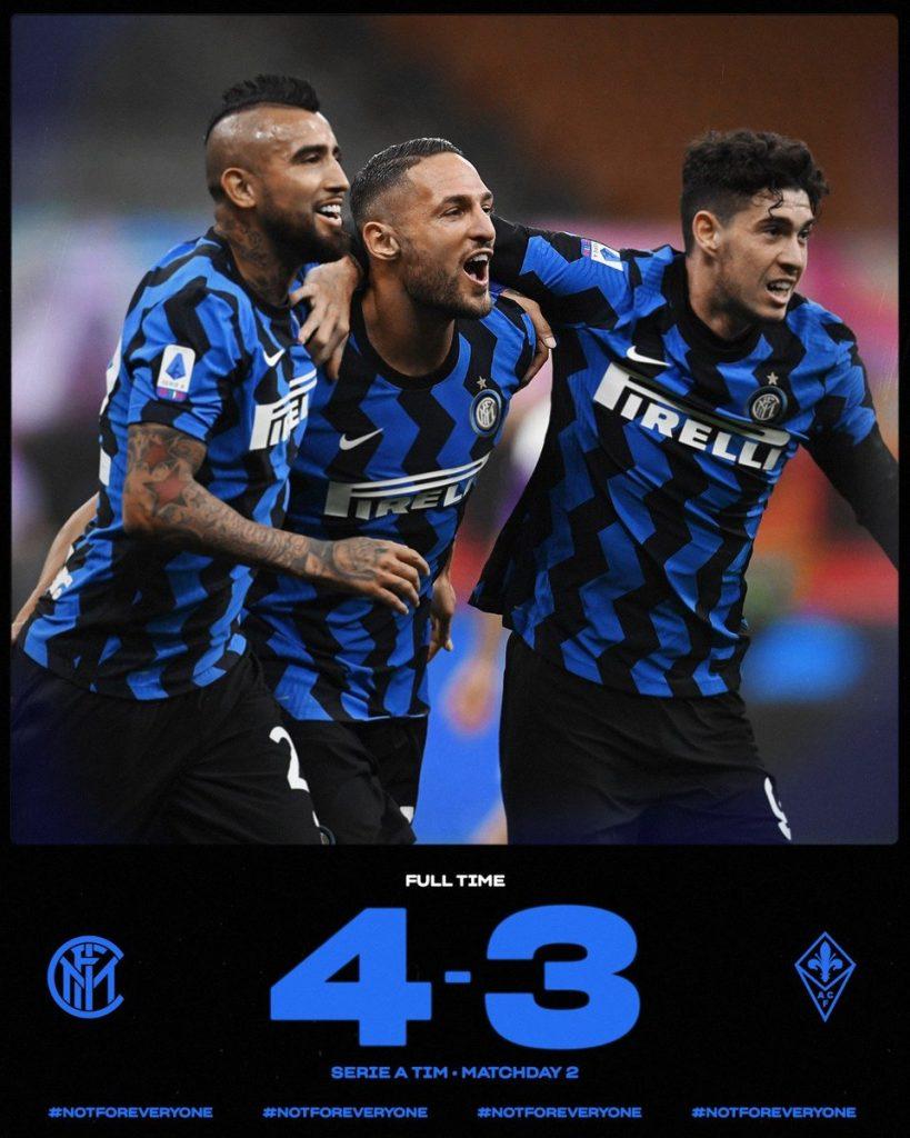 Четиризвезден Интер съкруши Фиорентина с шеметен финален спринт 2