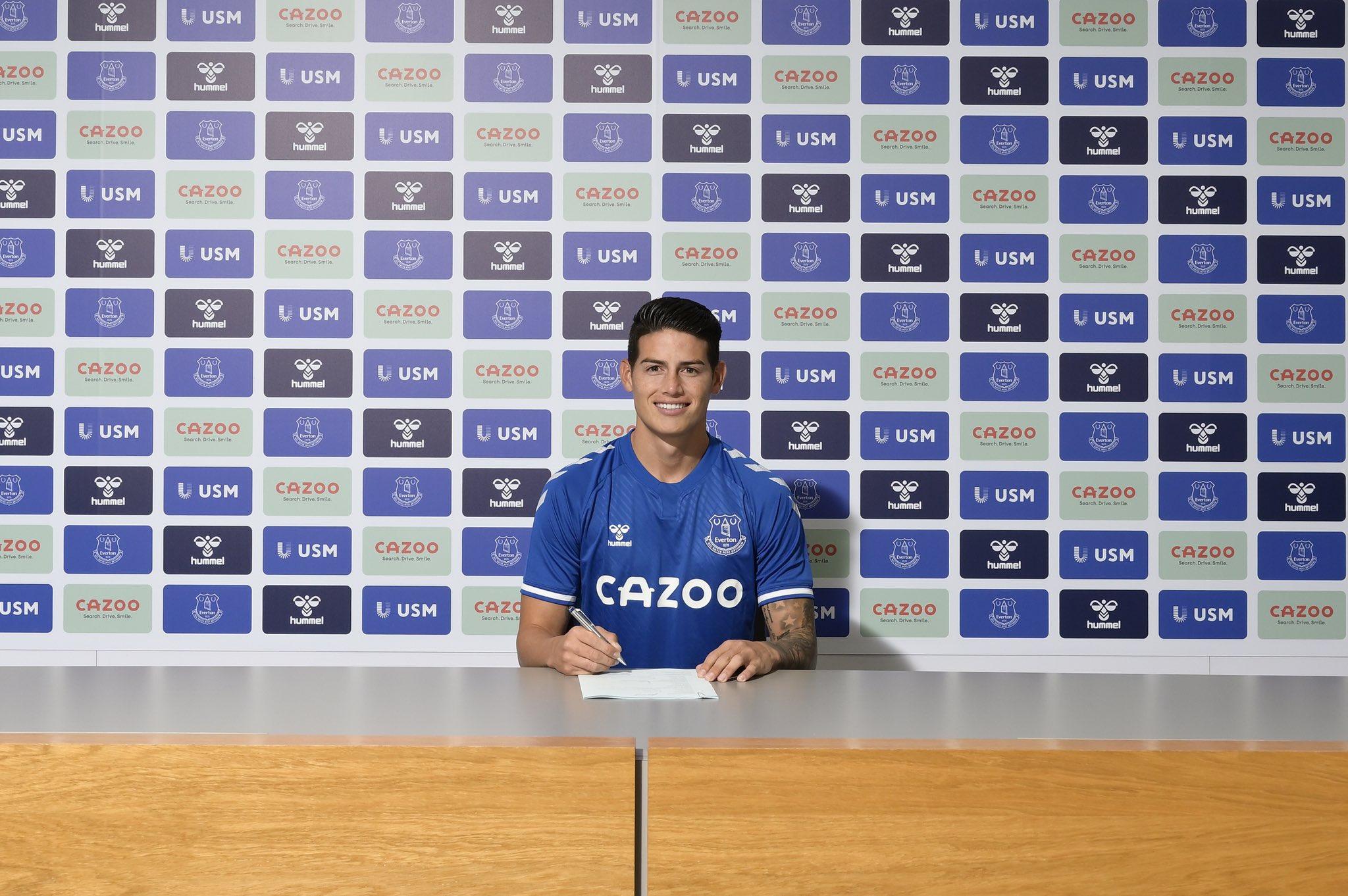 Официално: Хамес Родригес е играч на Евертън 1