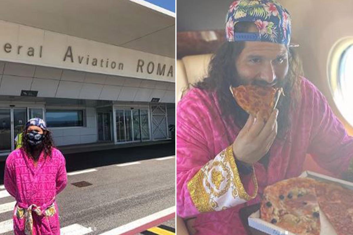 Масвидал зарежда с пица в Рим на път за остров Яс 1
