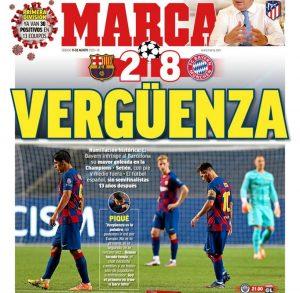 """Безмилостни испански медии: """"Историческо падение!"""""""