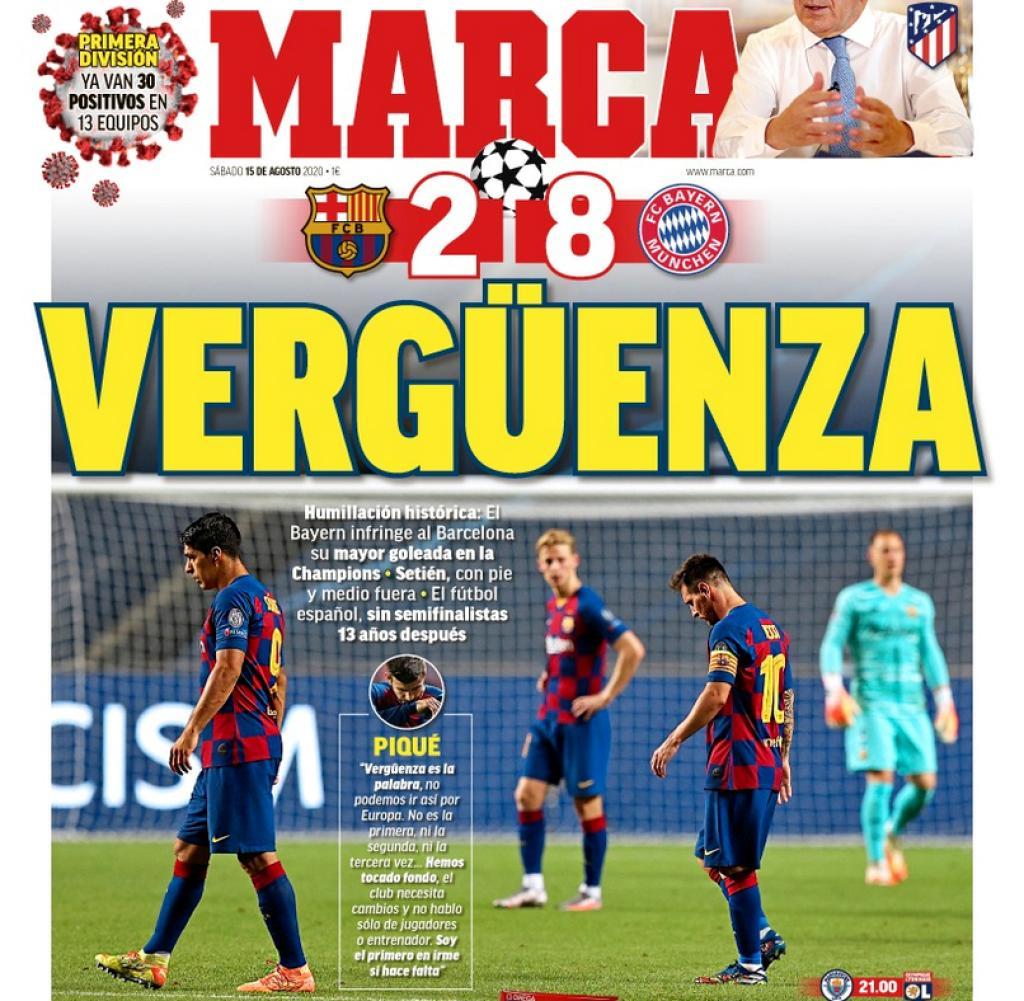 """Безмилостни испански медии: """"Историческо падение!"""" 1"""