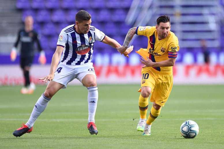 Барса се залепи зад Реал след успех във Валядолид, Меси с нов рекорд 1
