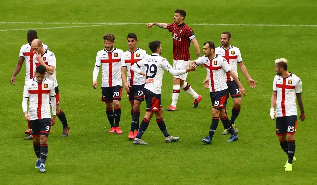 Милан загуби у дома от Дженоа пред празни трибуни