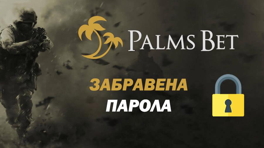 Palms Bet Забравена парола 1