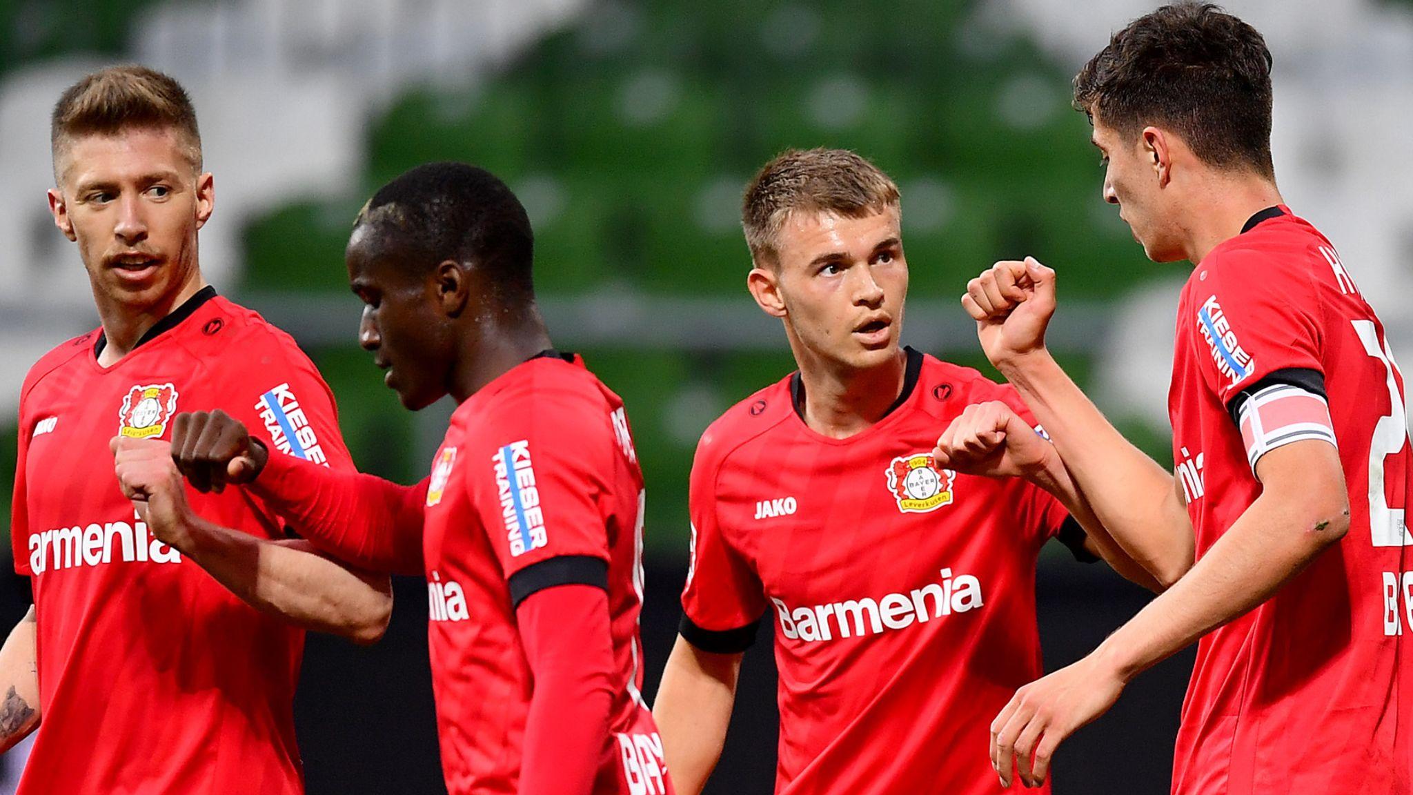 Байер Леверкузен не остави шансове на Вердер Бремен, Хаверц с 2 гола 1