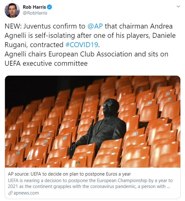 Ювентус обявява карантина от 121 служители на клуба 2